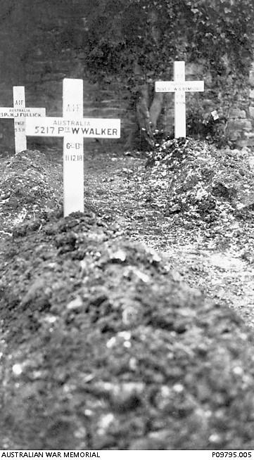 Original grave marker of Pte William Walker