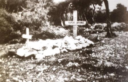 His Original Grave on Skyros
