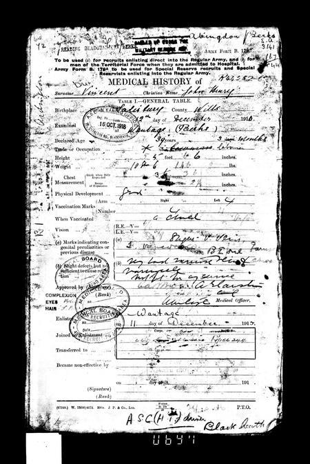 WW1 Service Record Page 4