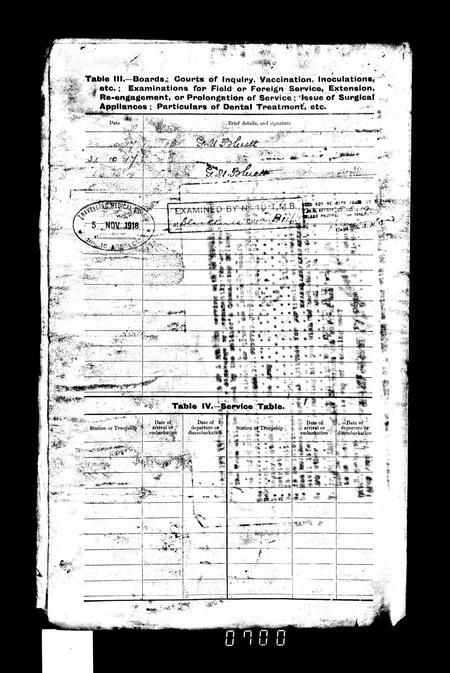 WW1 Service Record Page 7