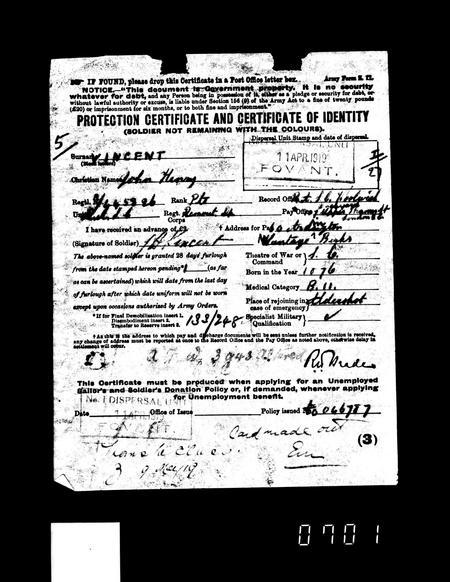 WW1 Service Record Page 8