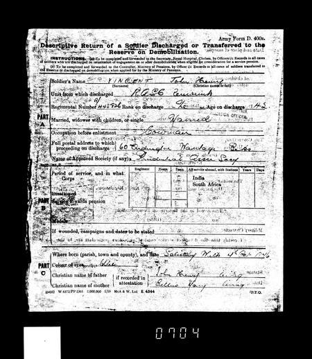 WW1 Service Record Page 10