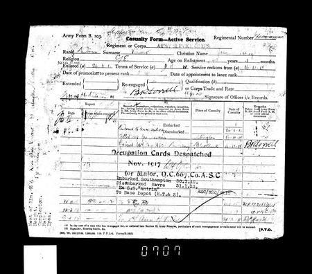 WW1 Service Record Page 13