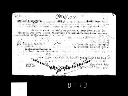 WW1 Service Record Page 19