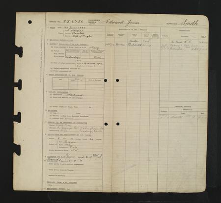 WW1 Service Record Page 2