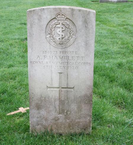 Profile picture for Alfred Frederick Hamblett