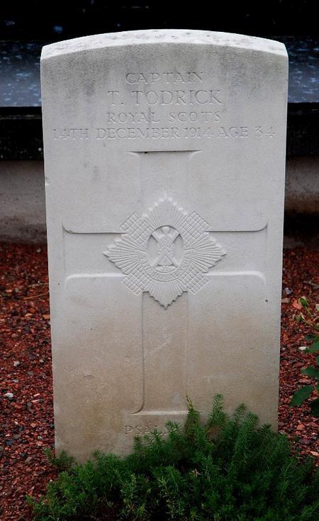 Thomas Todrick's gravestone