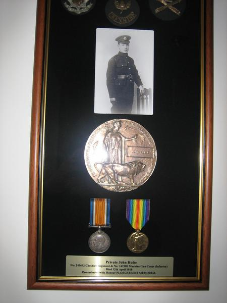 Photograph and medals of John Hulse