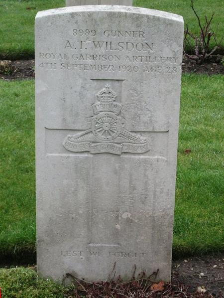 Profile picture for Arthur Thomas Wilsdon