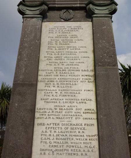Tenby War Memorial