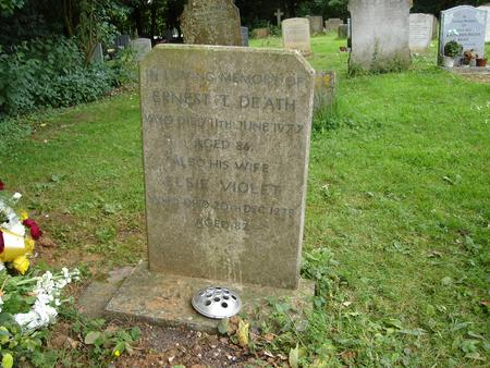 Ernest's gravestone