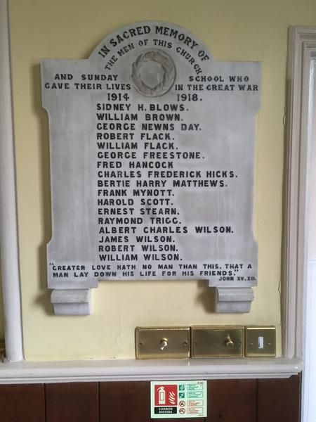 Trumpington Free Church War Memorial