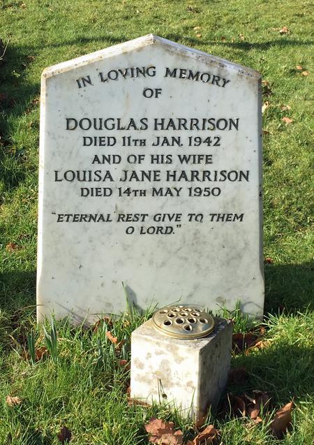Douglas and Louisa Jane Harrison's Headstone