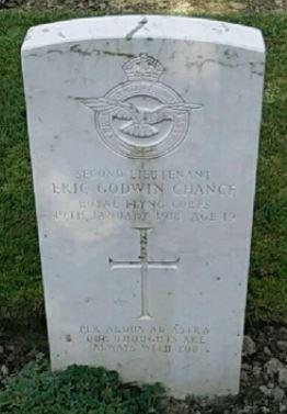 CWGC Grave of Second-Lieutenant Chance