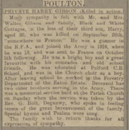 """""""PRIVATE HARRY GIBSON (Killed In Action)"""