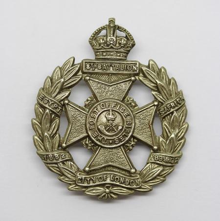 8th London Regiment (Post Office Rifles) Cap Badge