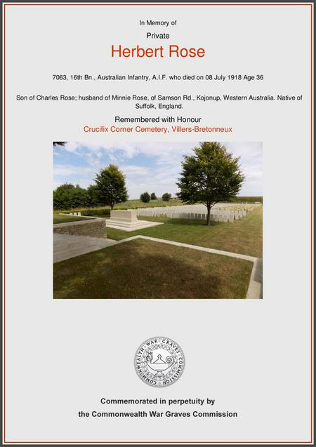 Crucifix Corner Cemetery, Villers-Bretonneux