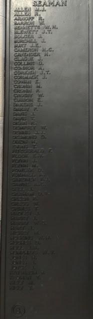 Plymouth Naval Memorial Panel 8