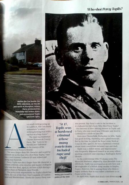 Percy Toplis Cumbria Life p.49