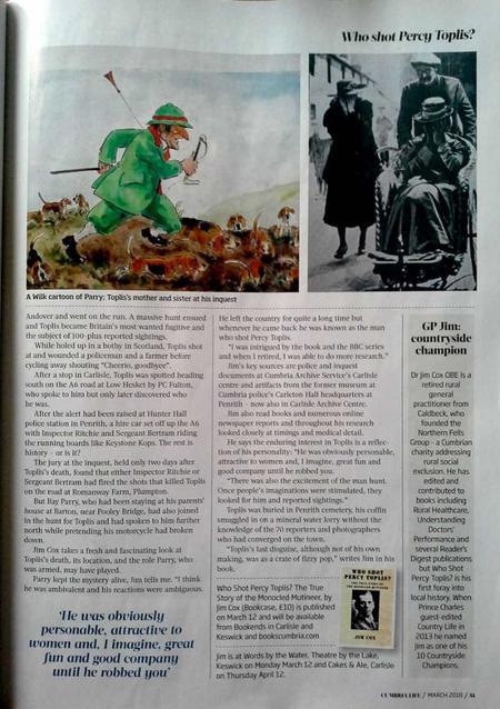 Percy Toplis Cumbria Life p.51