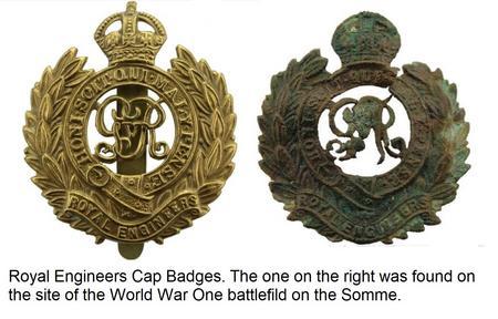 Royal Engineers Cap Badge. WW1.