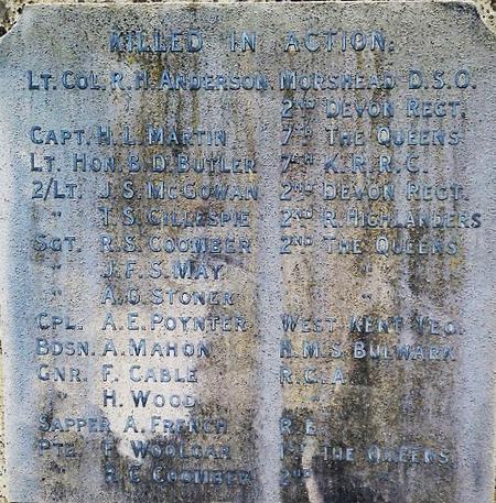 Dormansland War Memorial