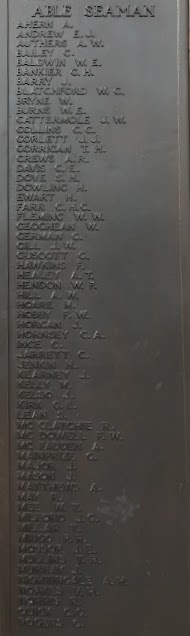 Plymouth Naval Memorial Panel 5