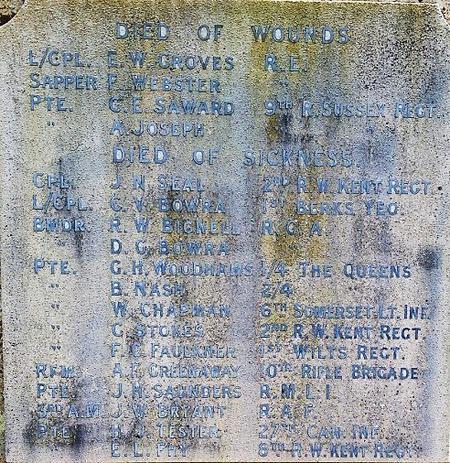 St John's Dormansland War Memorial