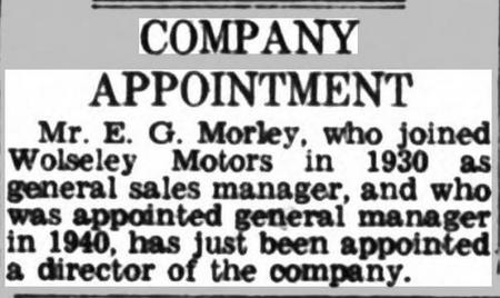 Company Appointment