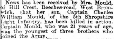 Brothers death in 1915