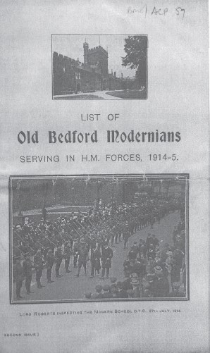 OBMs Serving in the Forces 1914-15