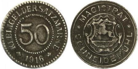 50 Pfennig Notgeld from Schneidemühl, Posen