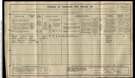 1911 Census Patrick Makinson