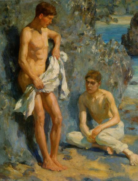 Leo Philip Marshall (right) by Henry Scott Tuke