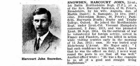 Harcourt John Snowden