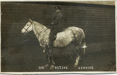 Frederick Perkins on active service