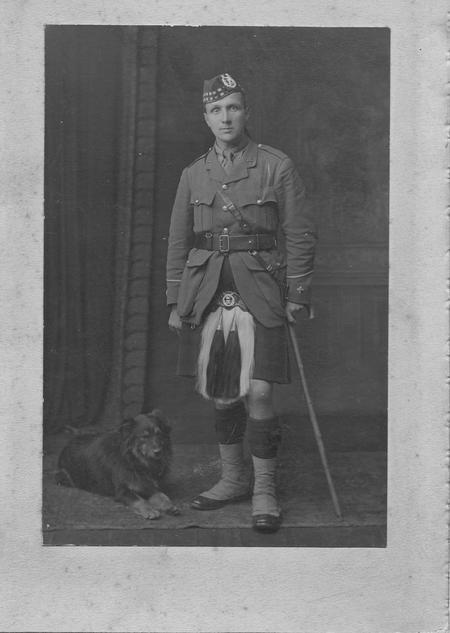 Walter Mackay Imlah & Wallace the Dog 1917