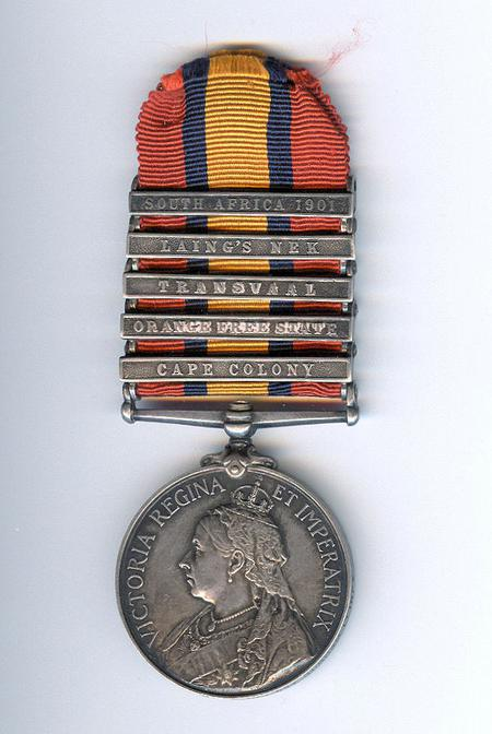 Queen's South Africa Medal with clasps