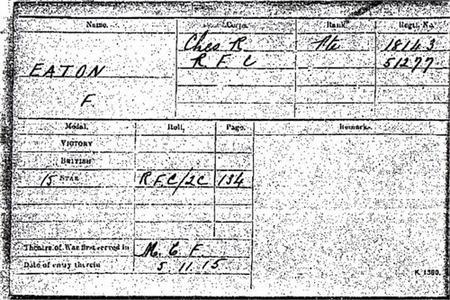Thomas Frederick Eaton Enlistment details