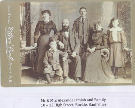Walter Imlah, his parents, brother and sister