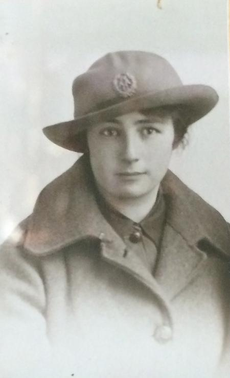 Nellie Sewell in uniform