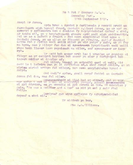 Letter of bereavement
