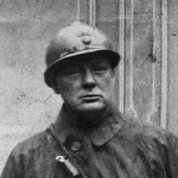 Churchill in French Helmet