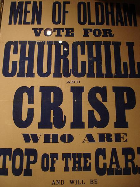 Churchill's poster for the 1900 general election