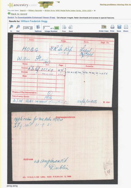 British Army WW1 Medal Rolls Index Cards 1914-1920