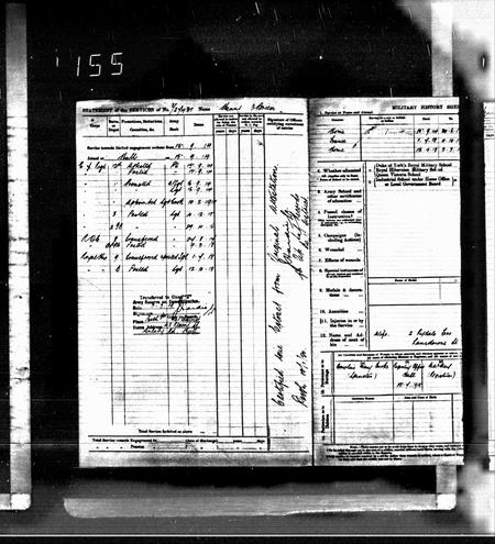 Army Pension Record