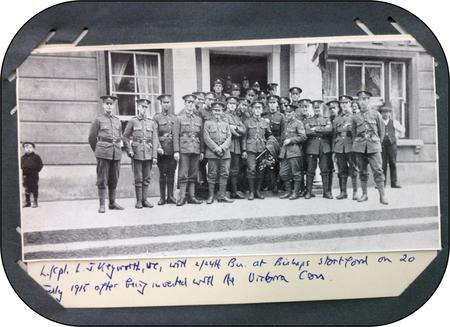 Leonard Keyworth and the 24th London Regiment