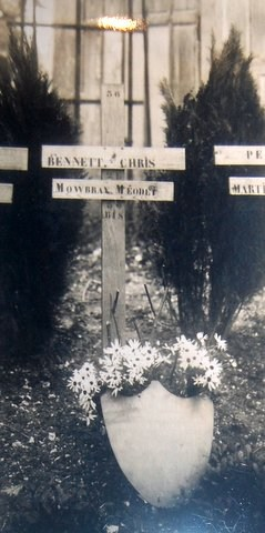 Mowbray Melton's original grave