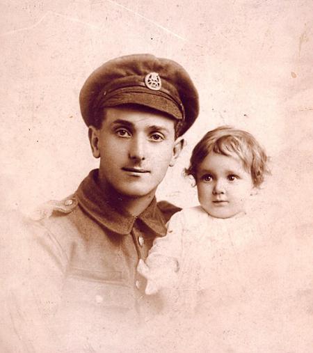 Francis Martin Darlow and daughter c.1917