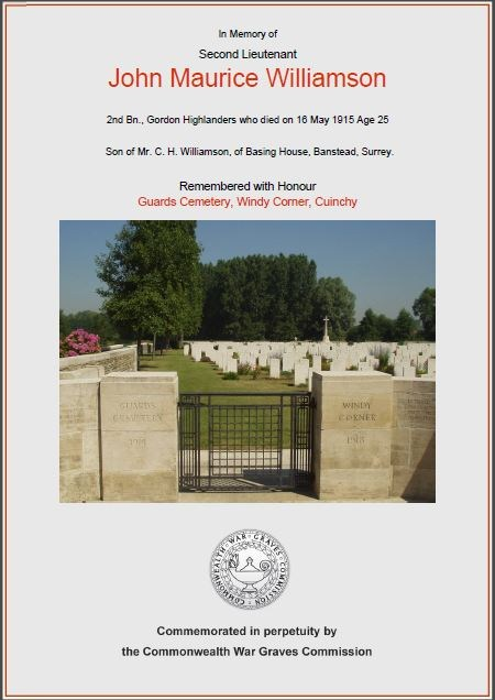 Certificate - Commonwealth War Graves Commission